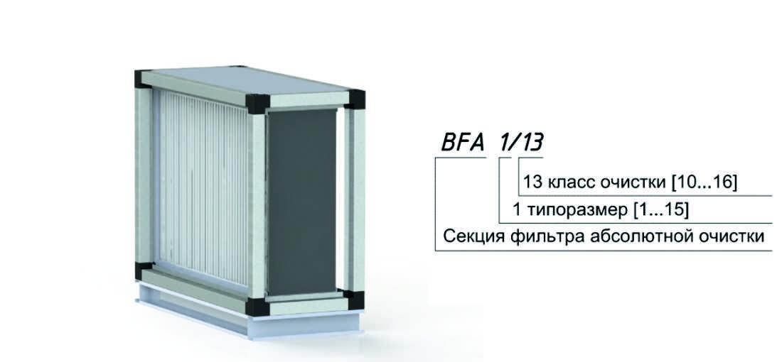 Секция фильтра абсолютной очистки для центрального кондиционера