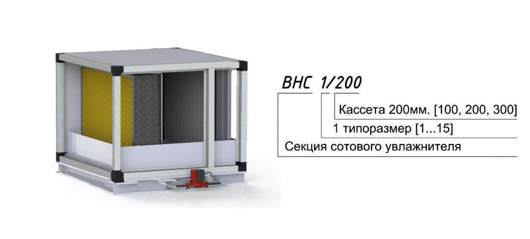 Секция сотового увлажнителя для центрального кондиционера